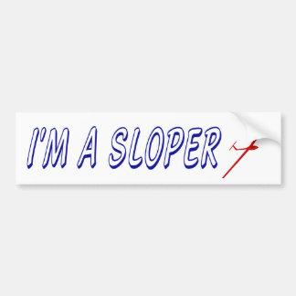 I'm a Sloper for R/C glider pilots Bumper Sticker