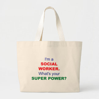 I'm a Social Worker. What's Your Super Power? Jumbo Tote Bag