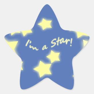 I'm a Star! Blue/Yellow Star Sticker