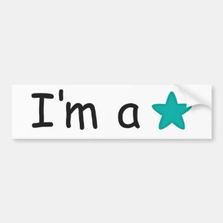 I'm a Star gifts customisable Bumper Sticker
