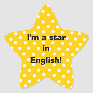 I'm a star in English customizable stickers