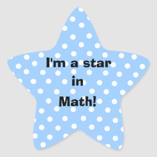I'm a star in math customizable subject stickers