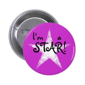 I'm a STAR! | Purple 6 Cm Round Badge