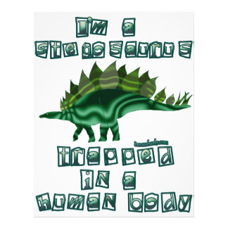 I'm a Stegosaurus 21.5 Cm X 28 Cm Flyer
