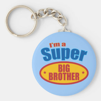 I'm a Super Big Brother Basic Round Button Key Ring
