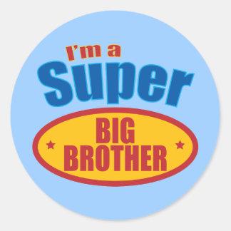 I'm a Super Big Brother Round Sticker