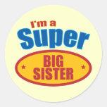I'm a Super Big Sister Classic Round Sticker