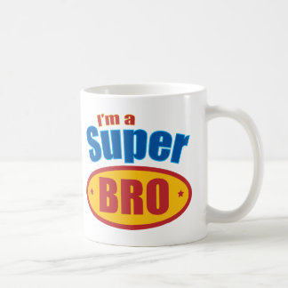 I'm a Super Bro Super Hero Brother Basic White Mug