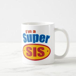 I'm a Super Sis Super Hero Big Sister Gift Basic White Mug