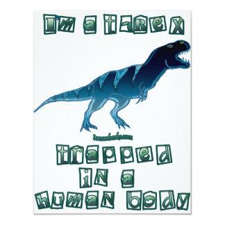 I'm a T-Rex 11 Cm X 14 Cm Invitation Card