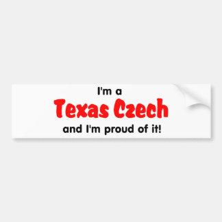 I'm a Texas Czech - T shirt Bumper Stickers