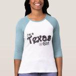 I'm a Texas Girl, Flower, Blue T-Shirt