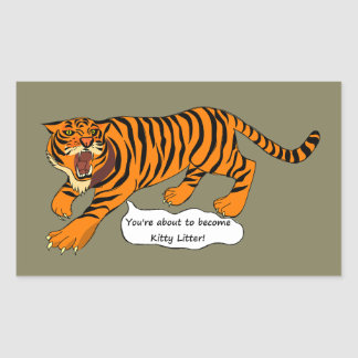 I'm a Tiger and I ain't Lion Rectangular Sticker