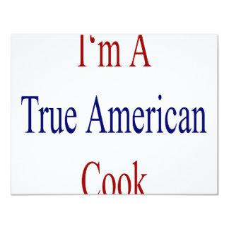 I'm A True American Cook 4.25x5.5 Paper Invitation Card