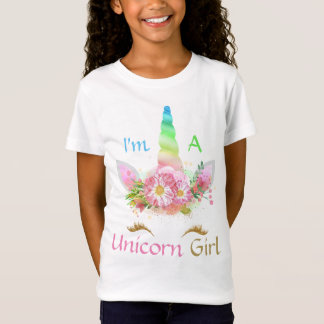 I'm A Unicorn Girl Spring Gold Colors Girls Tshirt