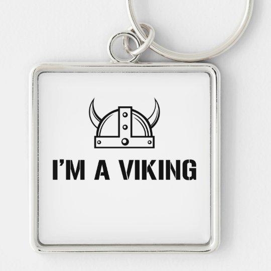 I'm a Viking Silver-Colored Square Key Ring