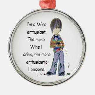 I'm a Wine enthusiast Christmas Ornament