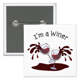 Im a Winer 15 Cm Square Badge