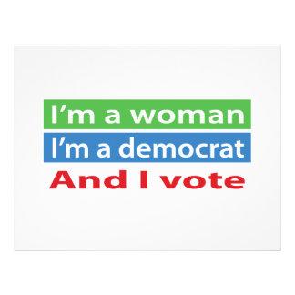 I'm a Woman, I'm a Democrat, and I Vote! Flyer