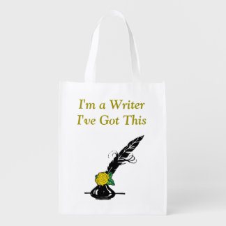 Im A Writer Black Yellow Rose Ink Quill Grocery