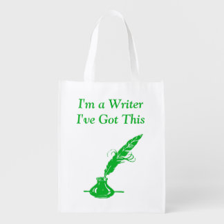 Im A Writer Ive Got This Green Ink Quill Grocery