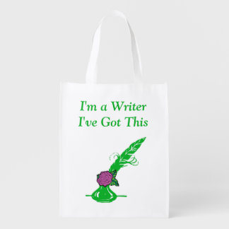 Im A Writer Lt Purple Rose Green Ink Quill Grocery
