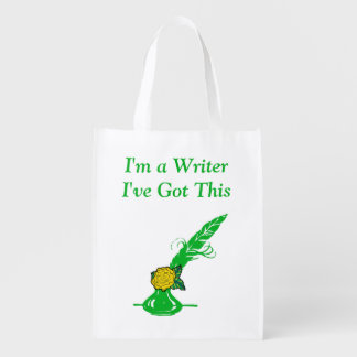 Im A Writer Yellow Rose Green Ink Quill Grocery