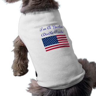 I'm A Yankee Doodle Poodle T-shirt Pet Clothes