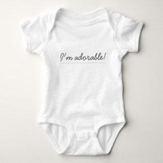 'I'm adorable!' (Pink detailing) - Baby bodysuit