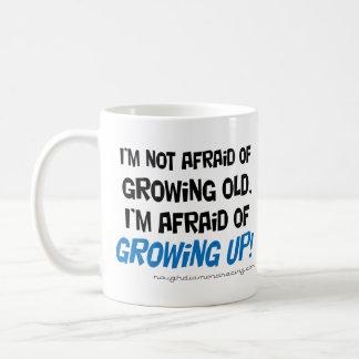I'm afraid of growing up mug