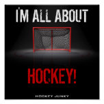 I'M ALL ABOUT HOCKEY! POSTERS