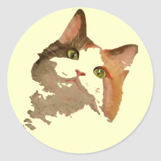 I'm All Ears: Calico Cat Portrait Stickers