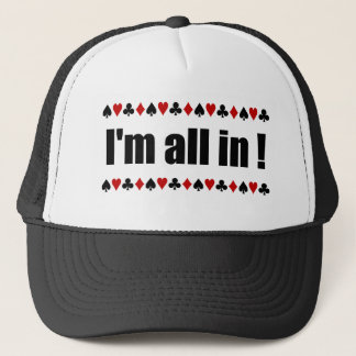 """""""I'm All In!""""  poker hats"""