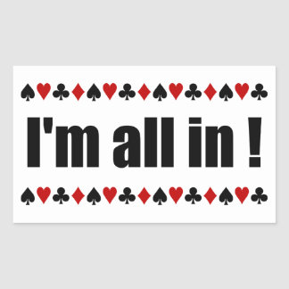 I'm All In! poker stickers