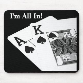 I'm All In!  Texas Hold 'Em Poker Mousepad