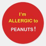 I'm Allergic - PEANUTS. Stickers