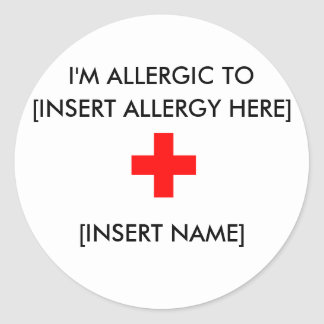 I'm Allergic Stickers (sheet of 6)
