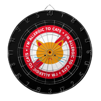I'm allergic to cats! Cat allergy Dart Board