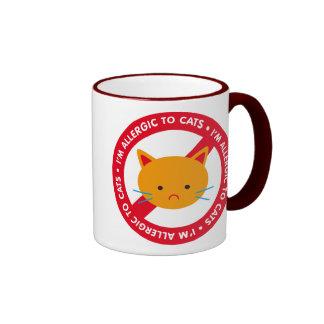I'm allergic to cats! Cat allergy Ringer Mug