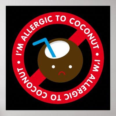 allergic to coconut