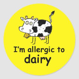 I'm allergic to dairy cow sticker