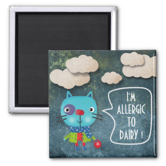 I'M ALLERGIC TO DIARY MILK SWEET RUSTIC CAT JEANS MAGNET