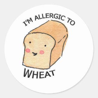I'm allergic to Wheat sticker Round Sticker
