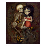 I'm Almost With You ART PRINT skeleton gothic