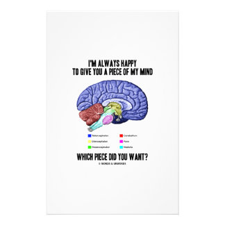 I'm Always Happy To Give You A Piece Of My Mind Personalized Stationery
