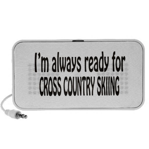I'm always ready for Cross Country Skiing. iPhone Speakers