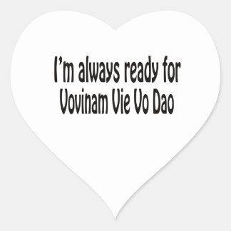 I'm always ready for Vovinam vie vo dao. Heart Sticker