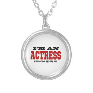 I'm An Actress Bow Down Before Me Round Pendant Necklace