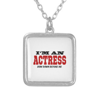 I'm An Actress Bow Down Before Me Square Pendant Necklace
