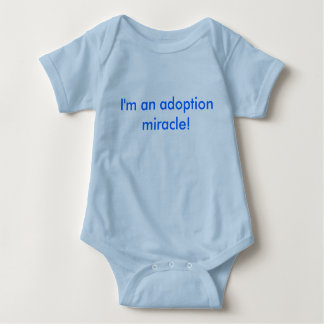 I'm an adoption miracle! baby bodysuit
